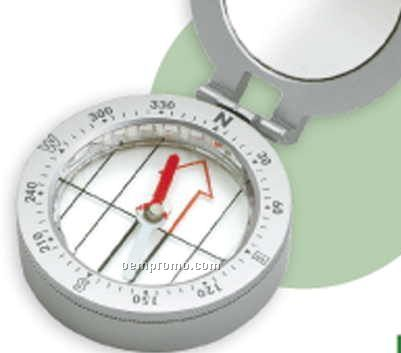 Metal Compass With Built-in Mirror