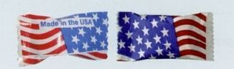 Asst. Gourmet Chocolate Mints Soft Candy W/ Stock Wrapper (American Flag)