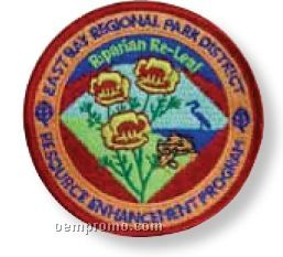 "Embroidered Patch W/ 70% Coverage (4 1/2"")"