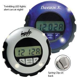 Jogger LED Pedometer W/ Clock