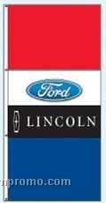 Stock Double Face Dealer Rotator Drape Flags - Ford/Lincoln