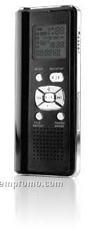 Digital Voice Recorder W 2gb Flash Memory, Sd Card Slot & USB Port