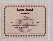 Stock Athletic Certificate - Softball