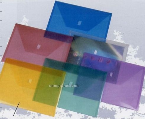 Blue Letter Size Poly Envelope With Trapezoid Cover
