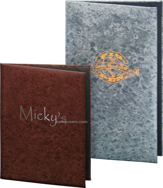 "Brushed Metallic Menu Cover - 3 View (5-1/2""X8-1/2"")"