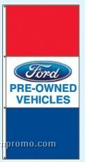 Double Face Dealer Rotator Drape Flags - Ford Pre-owned