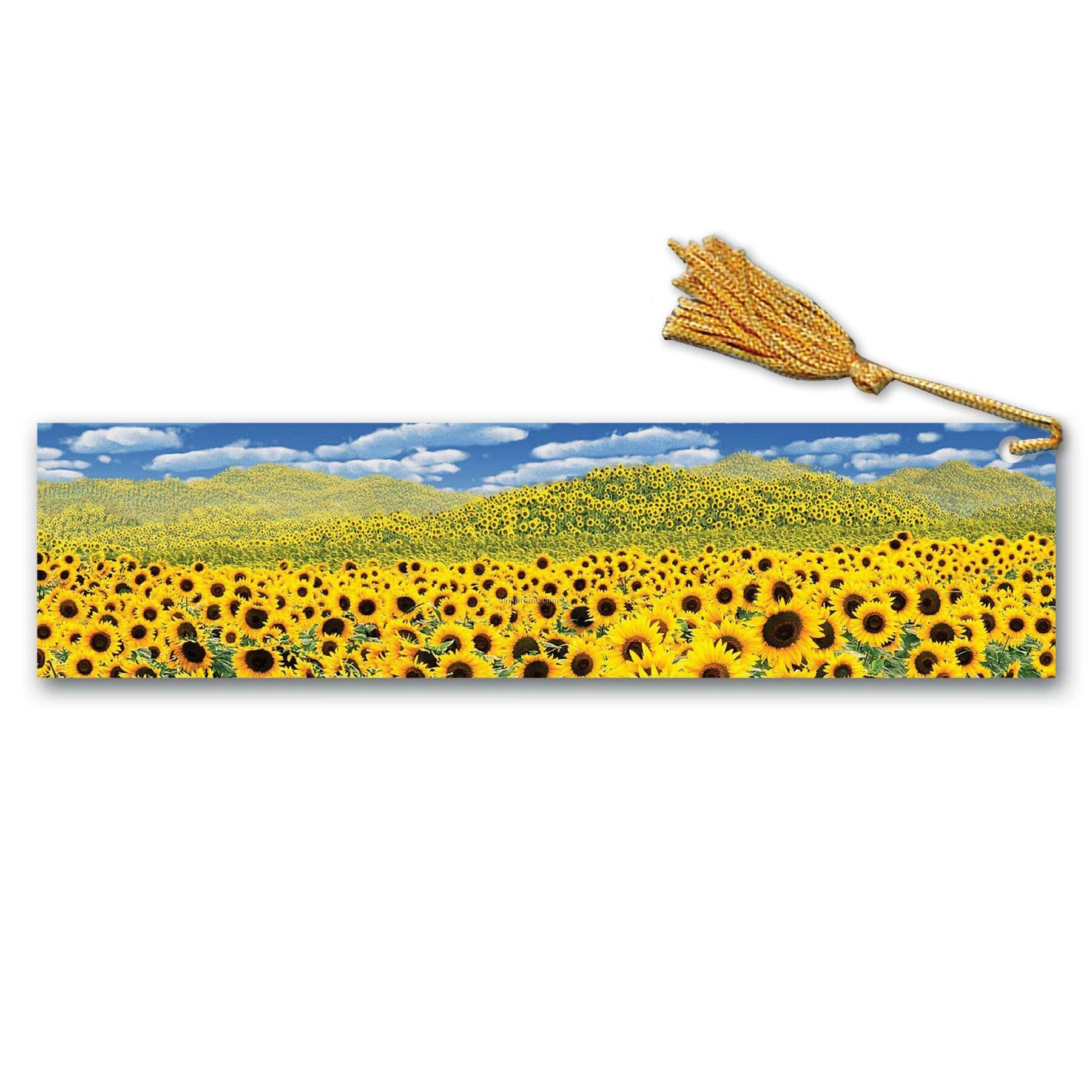 Pet Bookmark W/ 3d Effect Images Of Sunflower Fields (Blanks)