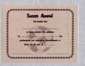 Stock Athletic Certificate - Baseball