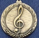 """2.5"""" Stock Cast Medallion (Music Clef Note)"""