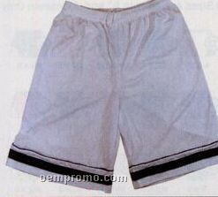 """Cool Mesh W/ Contrasting Piping Youth Shorts W/ 7"""" Inseam (S-xl)"""