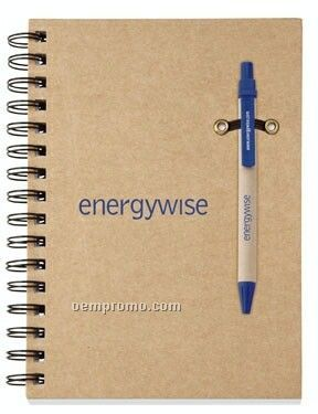 Ecologist Recycle Paper Pen & Cardboard Journal Combo