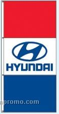 Stock Double Face Dealer Rotator Drape Flags - Hyundai