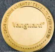 "1-1/2"" Custom Golden Brass/ Bronze Coins (12 Gauge)"