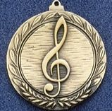 """1.5"""" Stock Cast Medallion (Music Clef Note)"""