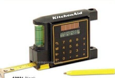 6` Tape Measure W/Calculator, Level & Pen (Printed)