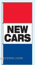 Double Face Stock Message Rotator Drape Flags - New Cars