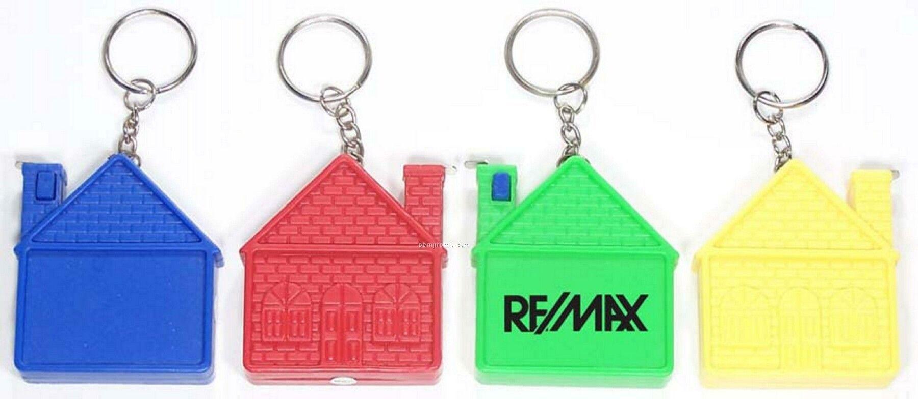 House Shape Tape Measure With Key Holder
