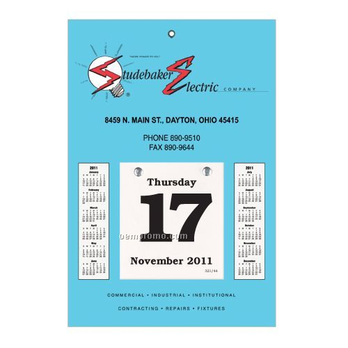 "Sullivan Daily Dates Bookbound Calendar W/ 3""X3"" Pad (7""X11"")"