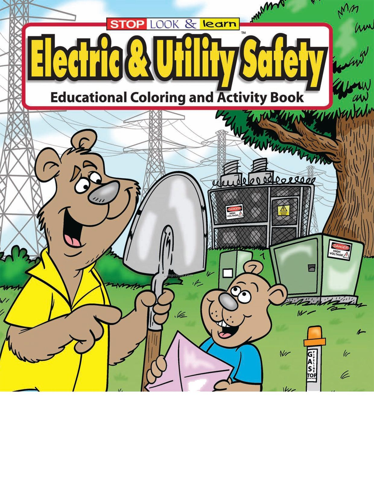 Electric & Utility Safety Coloring Book
