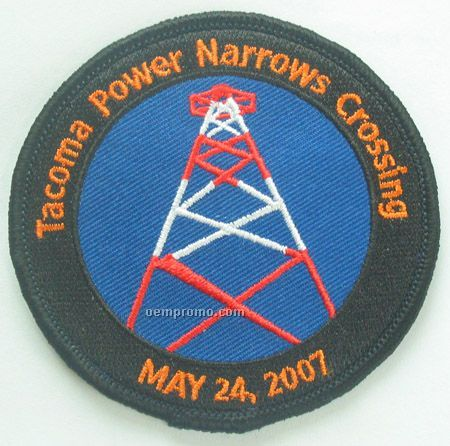 "Embroidered Patch W/ 90% Coverage (4"")"