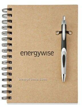 Helix Eco Recyclable Pen & Cardboard Journal Combo