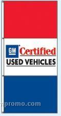 Stock Double Face Dealer Rotator Drape Flags - Gm Certified