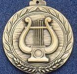 """1.5"""" Stock Cast Medallion (Music Lyre)"""
