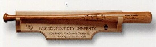 "24""X7"" Maple Bat Plaque"