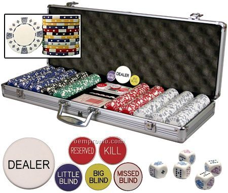 500 Diamond-suited ABS Composite 11.5 Gram Poker Chip Set With Cards