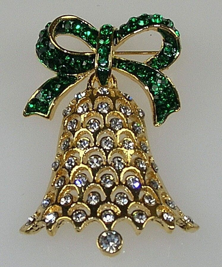 Christmas Rhinestone Broaches