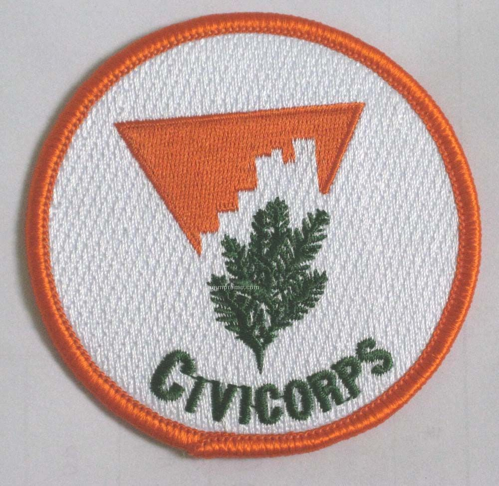 "Embroidered Patch W/ 90% Coverage (5"")"