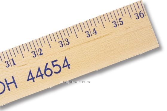 """Extra Strength Clear Lacquer Finish Yardstick (1 3/4"""" Wide) - 1 Color"""