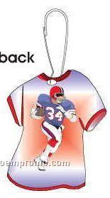 Football Player T-shirt Zipper Pull