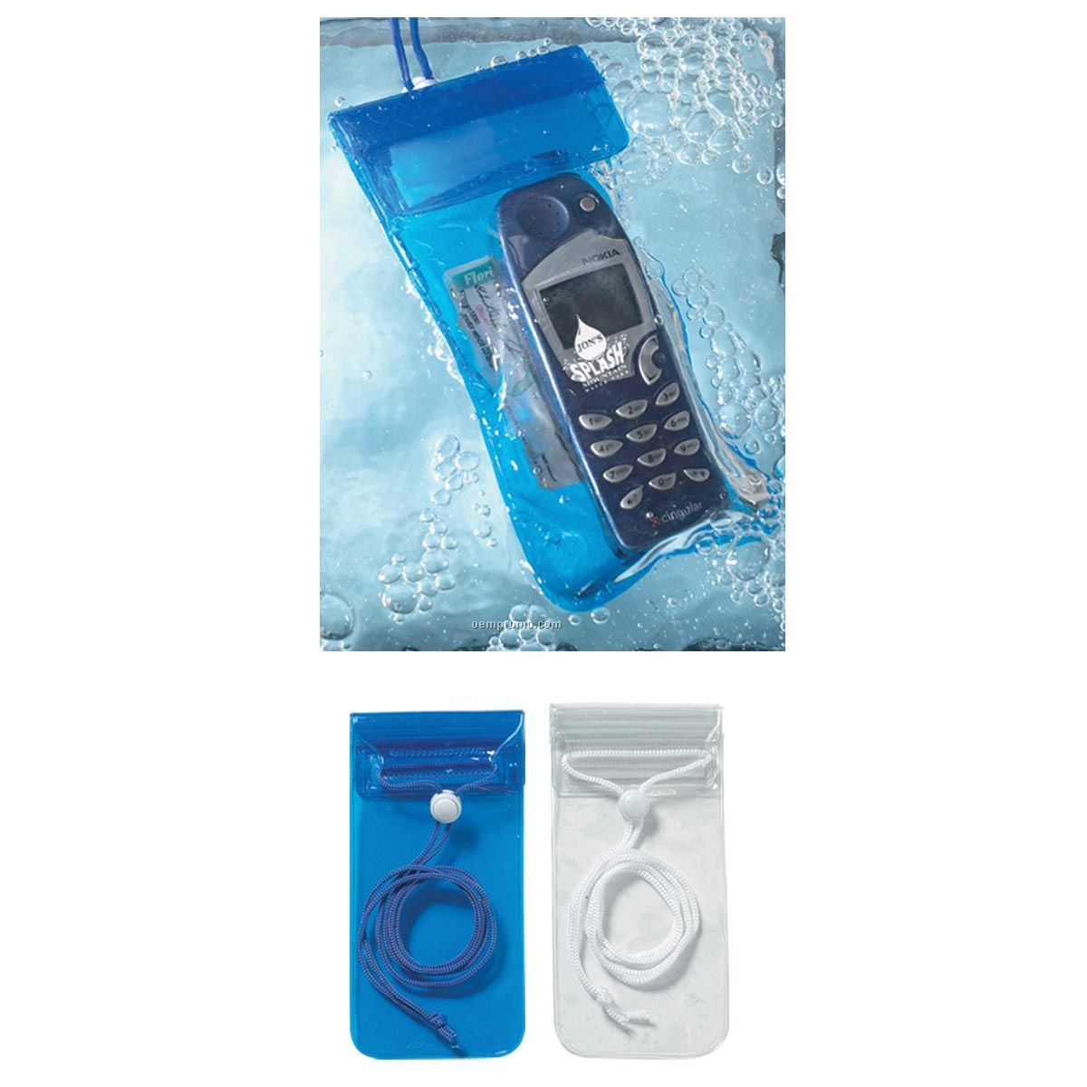 Handy Waterproof Pouch With Neck Cord (Blank)