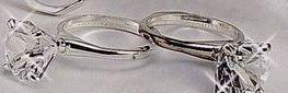 4 Piece Diamond Ring Design Napkin Ring Set