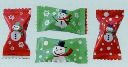 Assorted Gourmet Chocolate Mints Soft Candy With Stock Wrapper (Snowman)