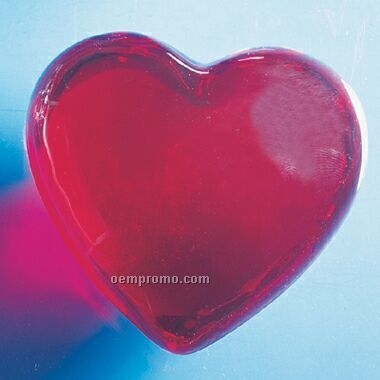Glass Heart Paper Weight (Screened)