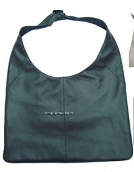 Leather Sheep Nappa Purse - Black