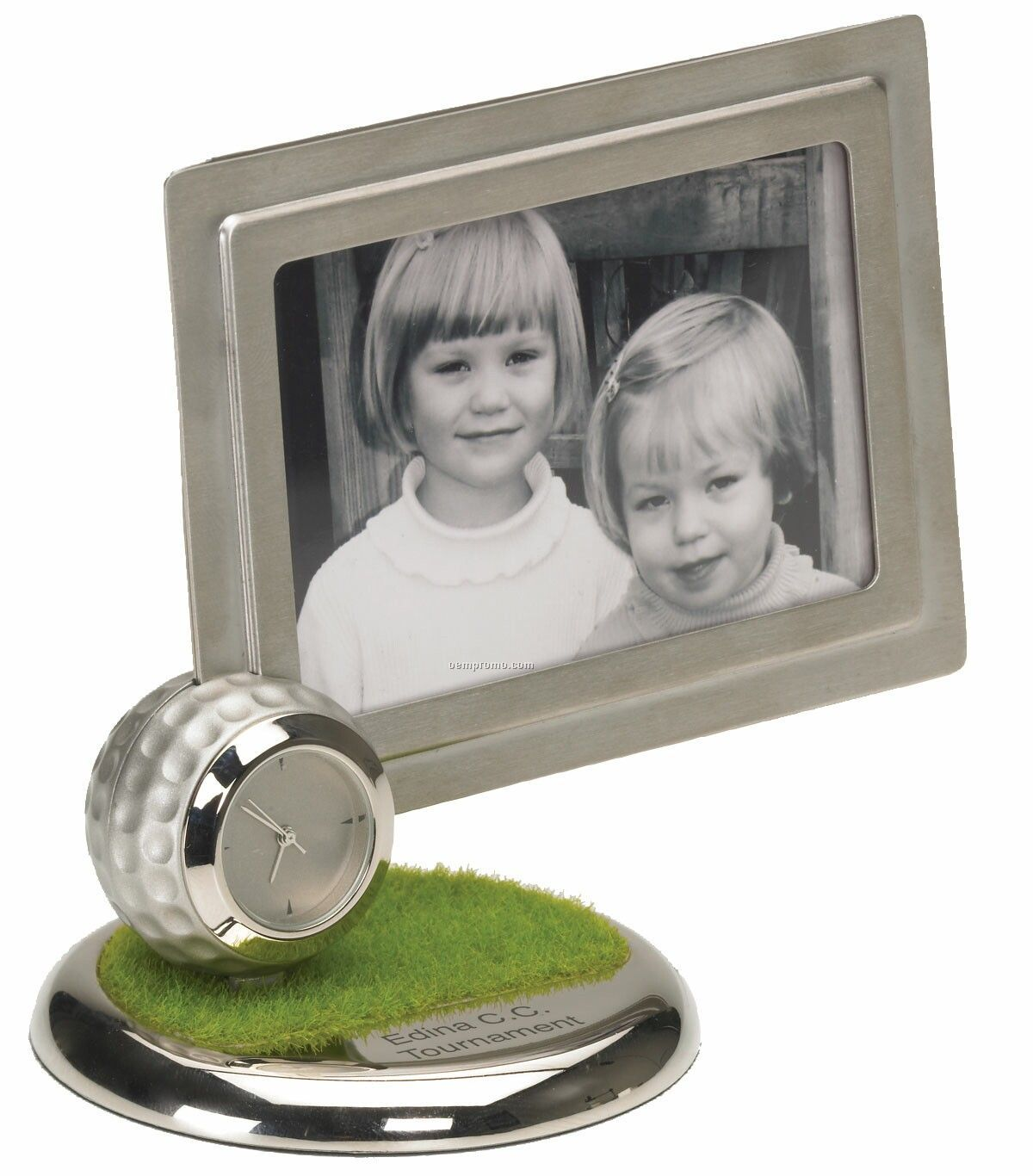 Metal Golf Picture Frame Clock