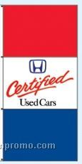 Stock Double Face Dealer Rotator Drape Flags - Certified Used Cars
