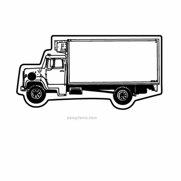 Stock Shape Collection City Truck 1 Key Tag