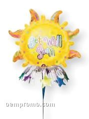 Wanderfuls Get Well Sun Balloon W/ Foil Wand
