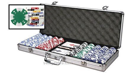 500 Card-suited ABS Composite 11.5 Gram Poker Chip Set With Cards