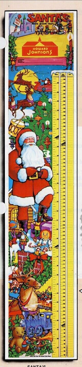 "7-1/2""X38"" Santa's Growth Charts"