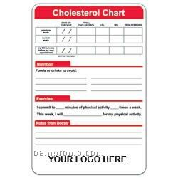 Cholesterol Chart Mini Magnetic Memo Board