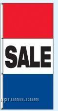 Double Face Stock Message Rotator Drape Flags - Sale