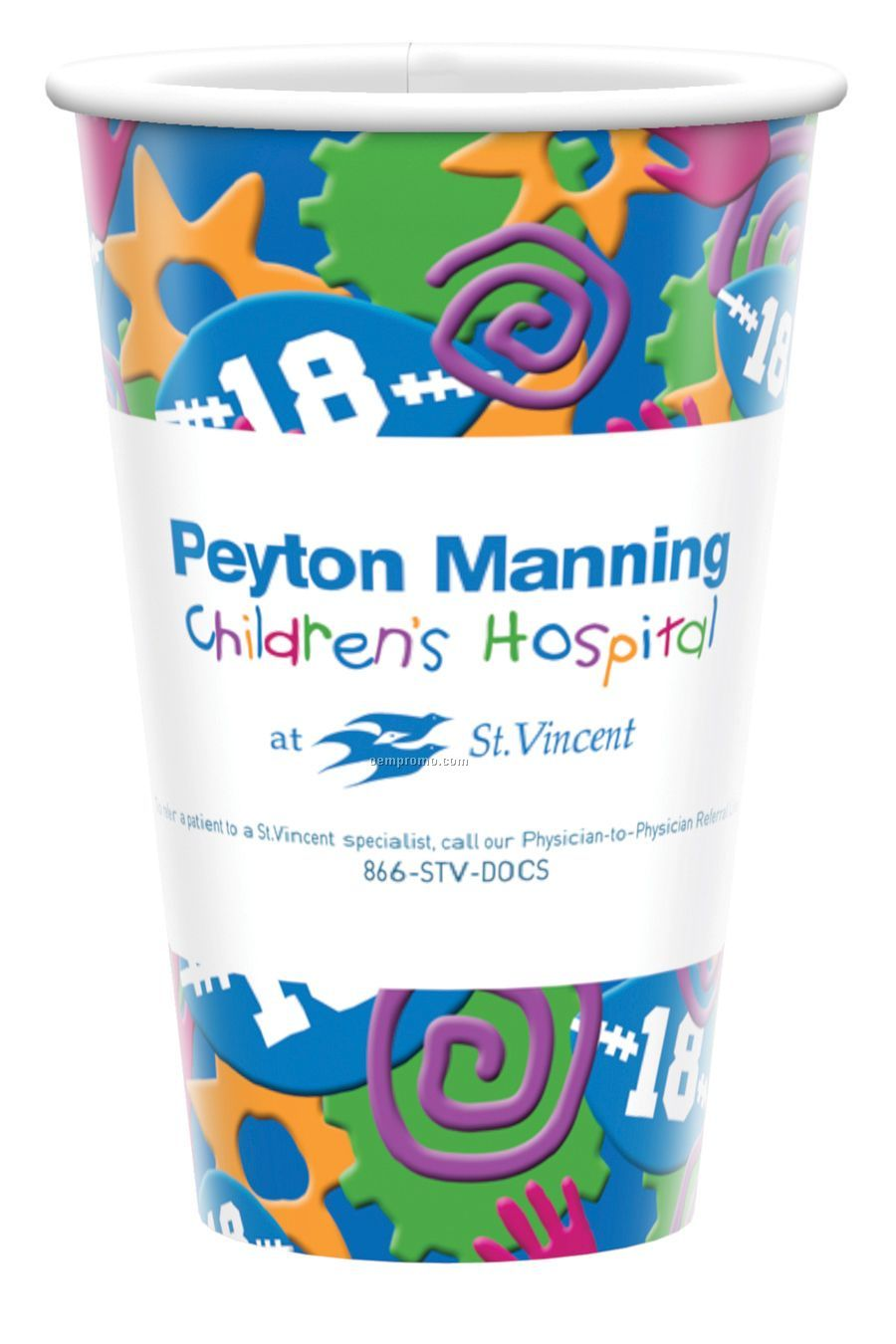 16 Oz. Heavy Duty Paper Cold Cup - Full Color