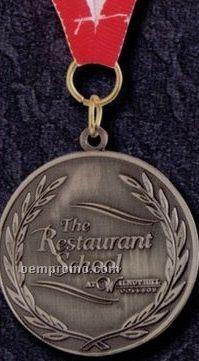 """2-1/2"""" Golden Brass/ Bronze Medallion W/ Raw Finish"""