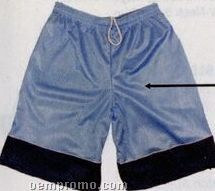 2 Ply Tricot Mesh Youth Shorts W/ 7