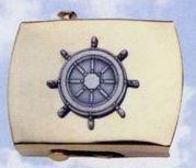 Brass Money Clip (Ship's Wheel)
